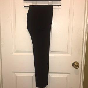 Victoria's Secret pink slashes black leggings